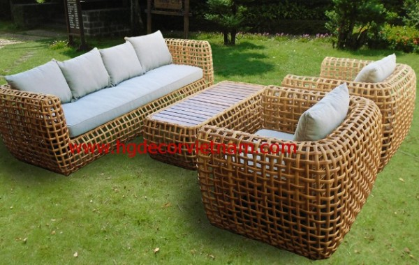 New design wicker sofa made in Vietnam