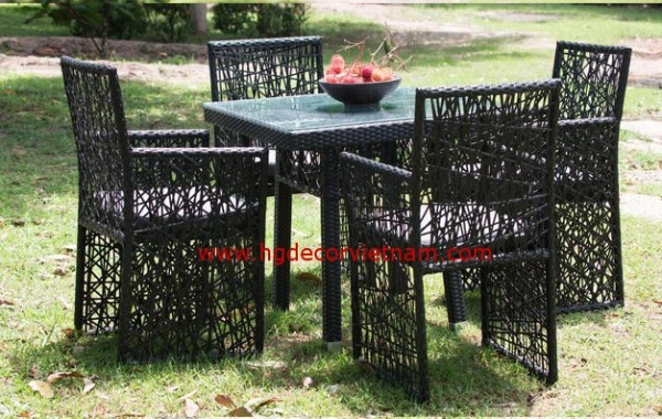 Patio rattan furniture