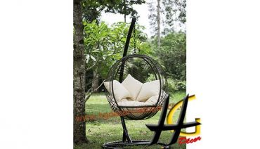 Special design poly rattan swing chair for garden
