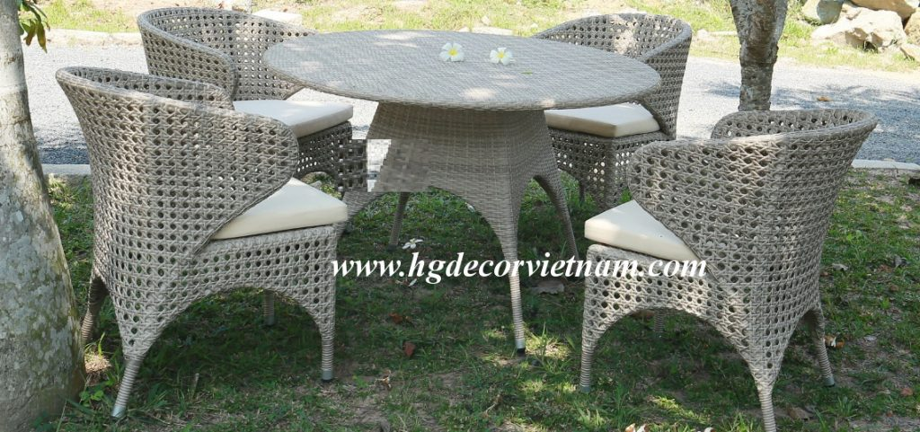 New design wicker dining set