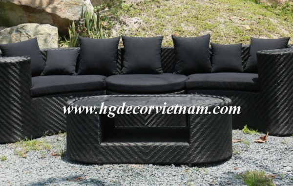 New outdoor wicker sofa