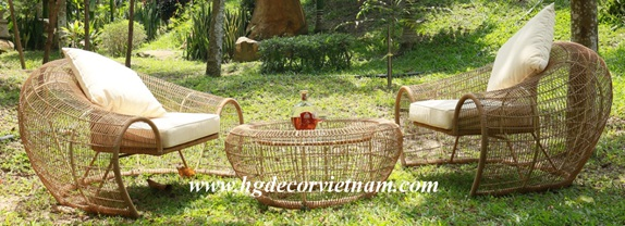 Wicker lounge