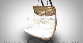 Poly rattan swing chair
